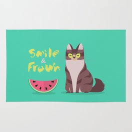 Smile and Frown Rug