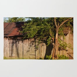 Abandoned old wooden shack Rug