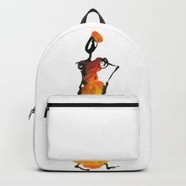 Malaika and Zeita dressing fire flames Backpack