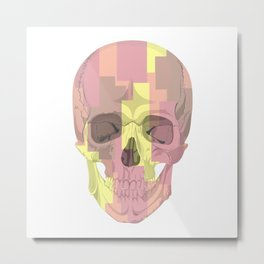 Human skull with stripes Metal Print