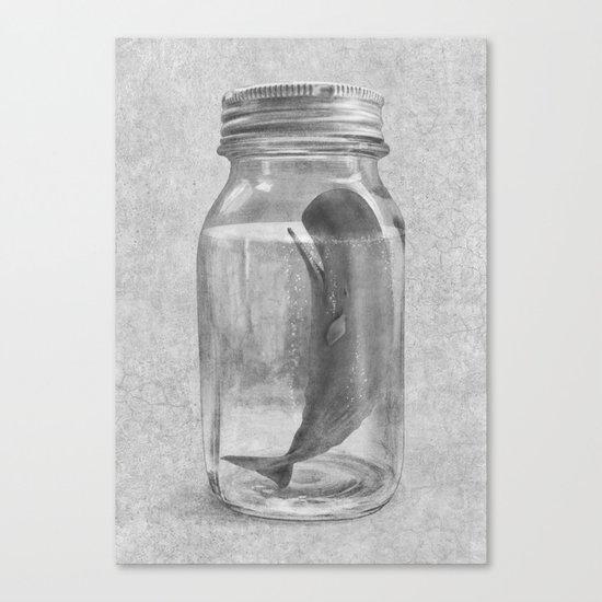 Extinction - mono Canvas Print