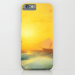 Ivan Aivazovsky - American Shipping off the Rock of Gibraltar iPhone Case