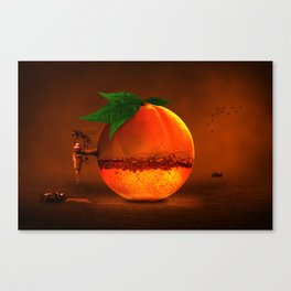 100 % natural juice Canvas Print