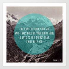 Isaiah 41:13 Art Print