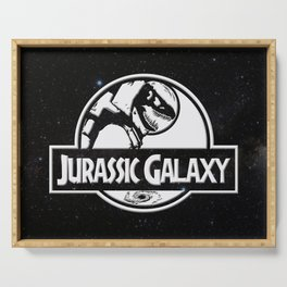 Jurassic Galaxy - White Serving Tray