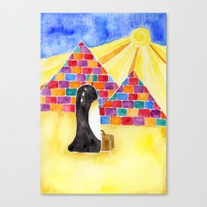 Penguin On Holiday Canvas Print