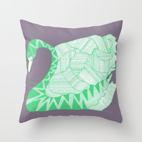Aztek Swan Throw Pillow