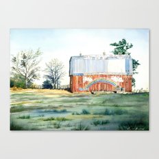Rainbow Barn Canvas Print