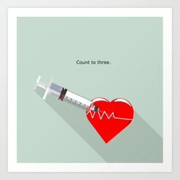 Shot to the heart - Pulp fiction Overdose Needle Scene needle for injection  Art Print