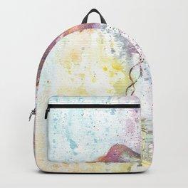 Hummingbird Watercolor Illustration Backpack