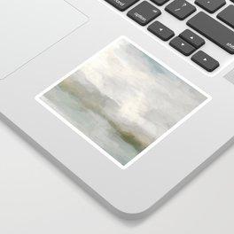 Modern Abstract Painting, Light Teal, Sage Green, Gray Cloudy Weather Digital Prints Wall Art, Ocean Sticker