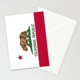 California flag, High Quality Authentic Stationery Cards