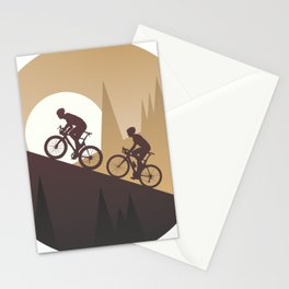 Roadbike Sunset Climbing Stationery Cards