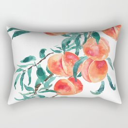 peach watercolor Rectangular Pillow