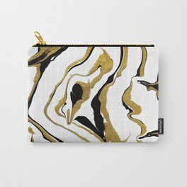 Gold And Black Opulence Carry-All Pouch