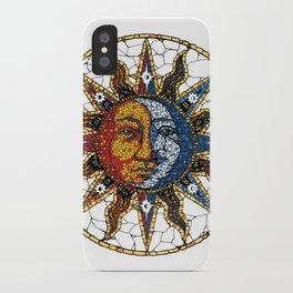 Celestial Mosaic Sun and Moon COASTER iPhone Case