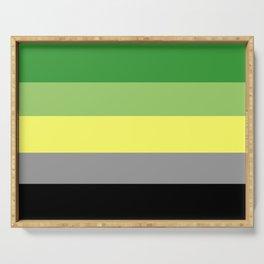 Aromantic pride flag Serving Tray