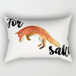 For Fox Sake Rectangular Pillow