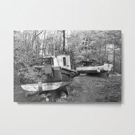 Abandoned Fishing Boats Metal Print