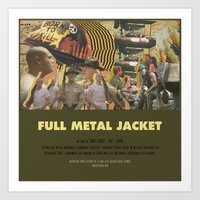 stanley kubrick Art Prints featuring Full Metal Jacket - Stanley Kubrick by Smart Store