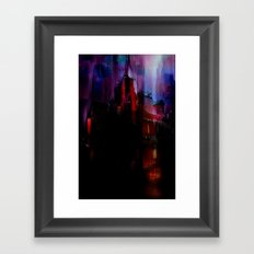 The house haunted Framed Art Print
