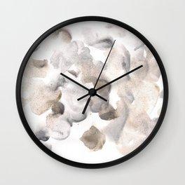 180630 Grey Black Brown Abstract Watercolour 8| Watercolor Brush Strokes Wall Clock