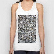 pebbles on the beach Unisex Tank Top