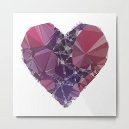 Heart triangular  low poly, mosaic pattern background, Vector polygonal illustration graphic, Creati Metal Print