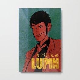 037 Lupin Vintage Metal Print