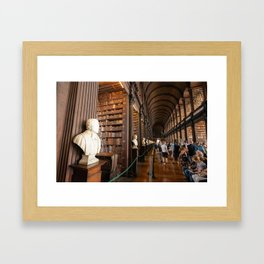 The Long Room of Trinity College Library in Dublin, Ireland Framed Art Print