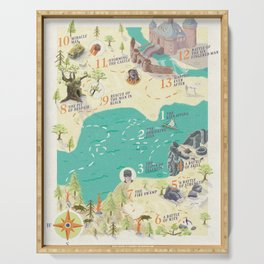 Princess Bride Discovery Map Serving Tray