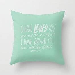 Everlasting Love x Mint Throw Pillow