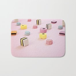 Abstract Colored Chewy Candies Bath Mat