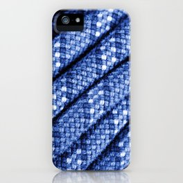 climbing rope texture blue  iPhone Case