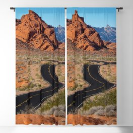 Valley of Fire Blacktop Blackout Curtain