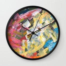 Abstract painting pattern Wall Clock