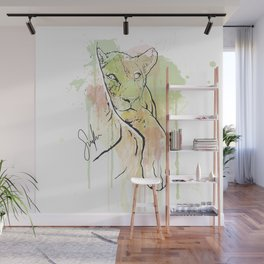 Young Lion Wall Mural