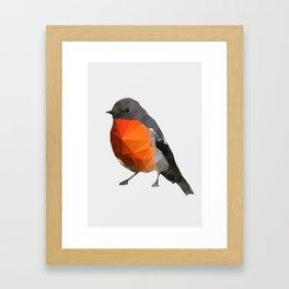 Geo - Robin Framed Art Print