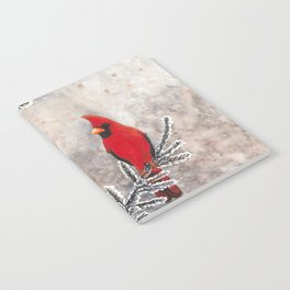 The Red Cardinal in winter Notebook
