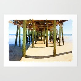 Gooch's Beach Sunset Art Print
