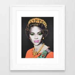 Queen Bey Framed Art Print