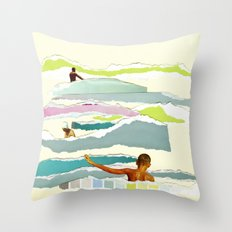 Sun and Surf Throw Pillow