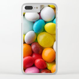 Multicolored round candies Clear iPhone Case