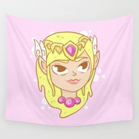 the legend of zelda Wall Tapestries featuring  Zelda  by HypersVE