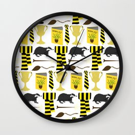 The House of Hufflepuff Pattern Wall Clock