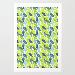 Beautiful Green Foliage Print Art Print