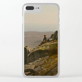 The Artist Sketching at Mount Desert, Maine Clear iPhone Case