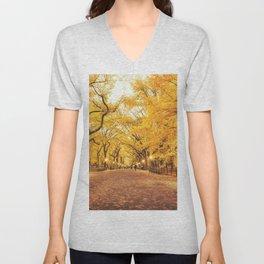 New York City Autumn Unisex V-Neck