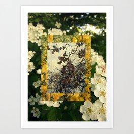 Floral inception Art Print