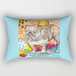 Bulldog pop art Rectangular Pillow